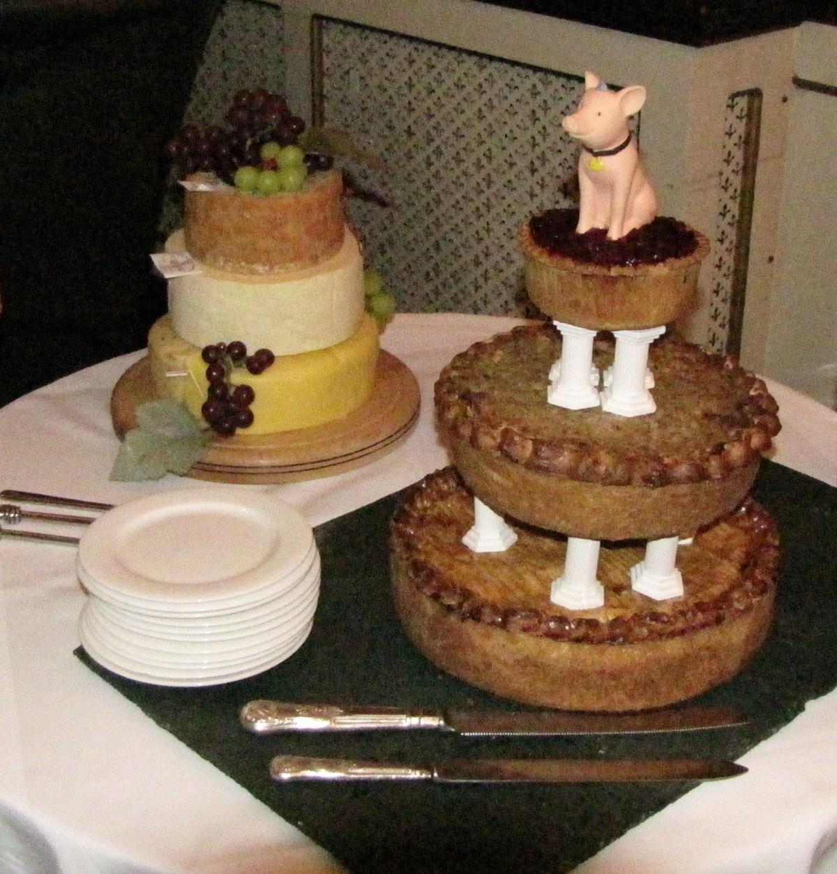 Wedding Pork Pie Cake