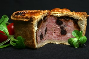 Pork and Black Pudding Pie with Red Onion Marmalade